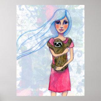 Chica y su pereza póster