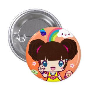 Chica Yuriko de Harajuku Pin Redondo De 1 Pulgada