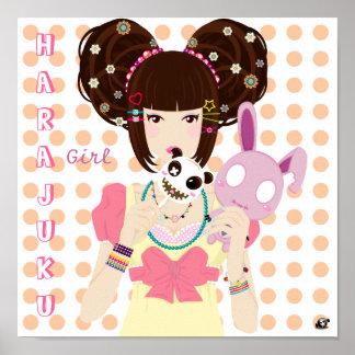 Chica Yuriko de Harajuku Póster