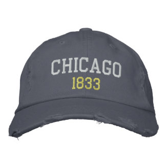 Chicago, 1833 embroidered hat