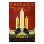 Chicago 1933 World's Fair Poster - Advertising