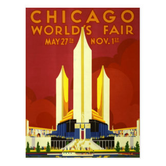 Chicago 1933 World's Fair Vintage Postcard