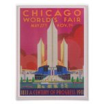 Chicago 1933 World's Fair Vintage Poster