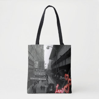 Chicago 1960's Blackhawk Restaurant Sign Neon Love Tote Bag