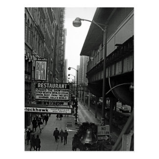 Chicago 1960's Blackhawk Restaurant Sign Street Postcard
