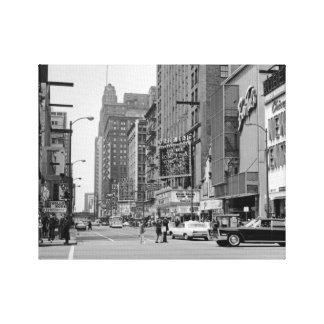 Chicago 1960's Randolph St Oriental Theater Photo Canvas Print