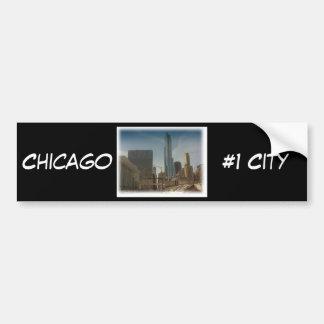 Chicago #1 City, Bumper Sticker Car Bumper Sticker