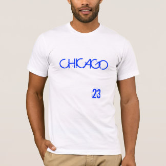 CHICAGO #23 MEN'S CREW NECK T-SHIRT - WHITE