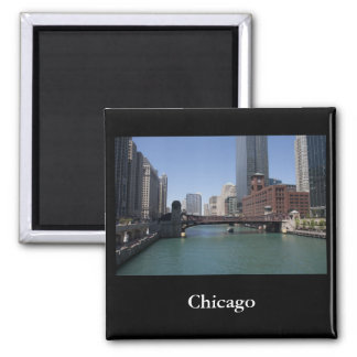 Chicago 2 Inch Square Magnet