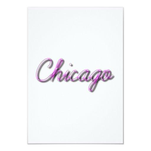 Chicago 3.5x5 Paper Invitation Card