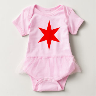 Chicago 6 pointed star baby bodysuit