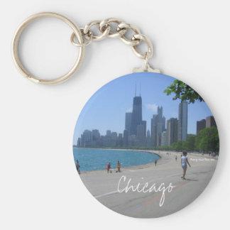 Chicago a orillas del lago llavero redondo tipo pin