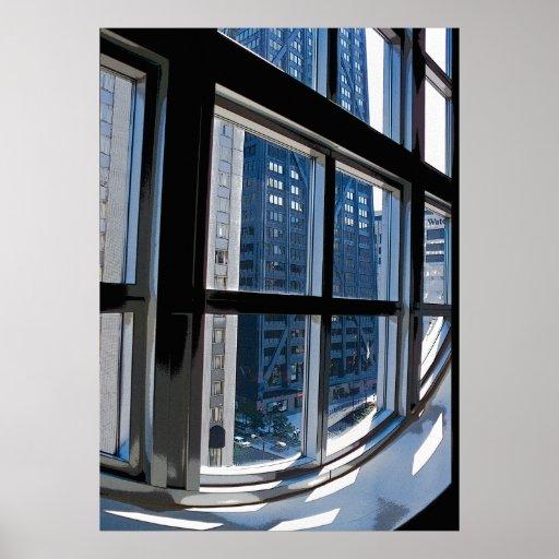 Chicago a través de la ventana póster