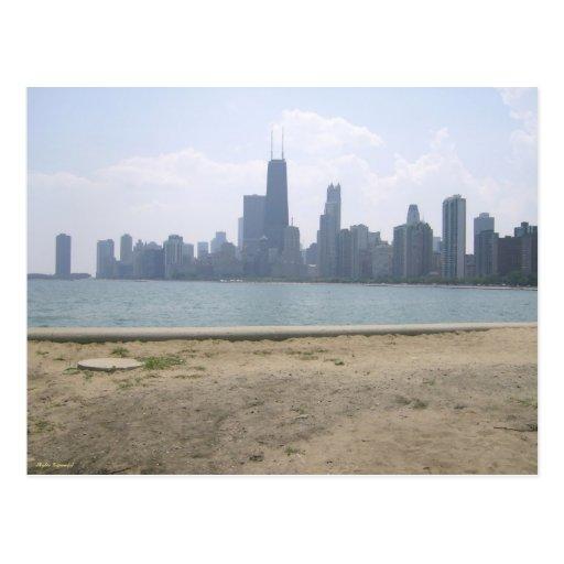Chicago a través del agua tarjetas postales