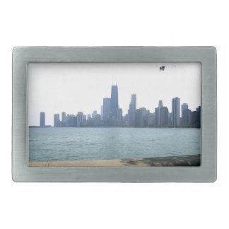 Chicago Across the Lake Rectangular Belt Buckle