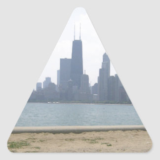Chicago Across the Water Triangle Stickers