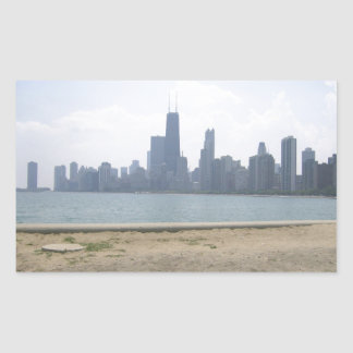 Chicago Across the Water Rectangular Stickers