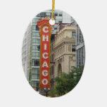 Chicago Adorno Navideño Ovalado De Cerámica
