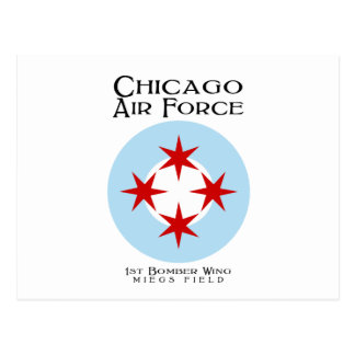 Chicago Air Force - 1st Bomber Wing Postcard