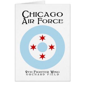 Chicago Air Force - 9th Fighter Wing Card