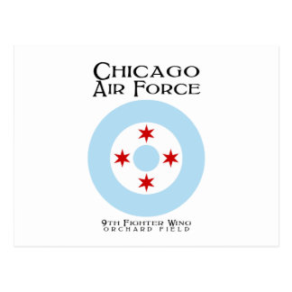 Chicago Air Force - 9th Fighter Wing Postcard