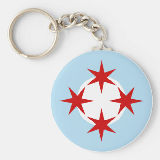 Chicago Air Force (Bomb Wing) Roundel Basic Round Button Keychain