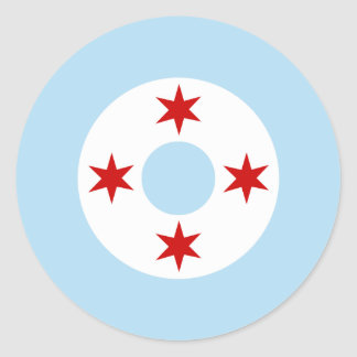 Chicago Air Force (Fighter Wing) Roundel Classic Round Sticker
