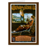 Chicago & Alton Railroad Vintage Travel Poster