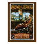 Chicago & Alton Railroad Vintage Travel Poster Card
