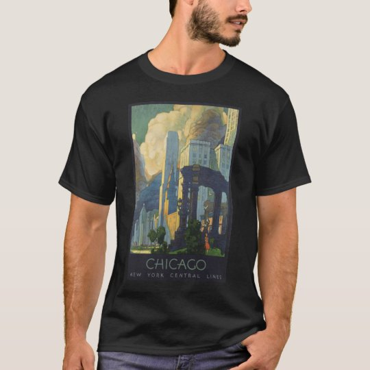 Chicago America Vintage Travel Poster T-Shirt