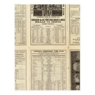 Chicago and Alton Railroad 2 Postcard