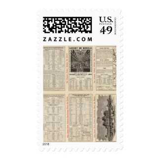 Chicago and Alton Railroad 3 Postage Stamps