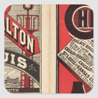 Chicago and Alton Railroad Square Sticker