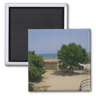 Chicago and Lake Michigan shoreline pins 2 Inch Square Magnet