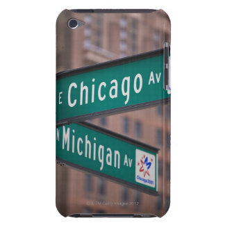 Chicago and Michigan Avenue signposts, Chicago, Barely There iPod Cover