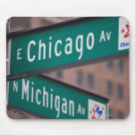 Chicago and Michigan Avenue signposts, Chicago, Mouse Pad