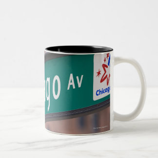 Chicago and Michigan Avenue signposts, Chicago, Two-Tone Coffee Mug