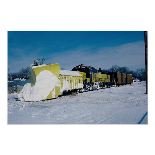 Chicago and North Western GP unit with wedge snow Poster