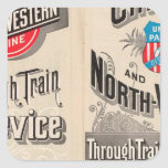 Chicago and North Western Line Square Sticker