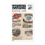 Chicago and North Western Line Stamp