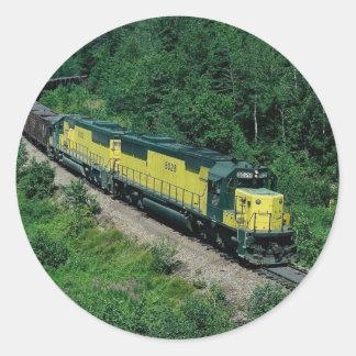 Chicago and Northwestern EMD No. 8028 with ore tra Round Sticker