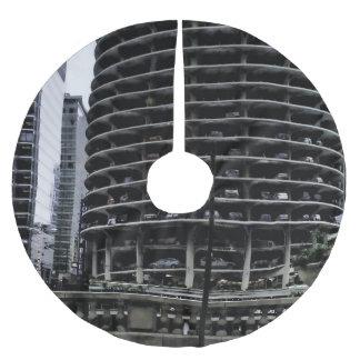 Chicago Architecture in The Round Brushed Polyester Tree Skirt