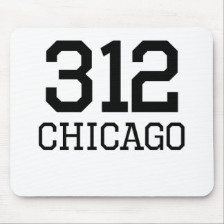 Chicago Area Code 312 Mousepads