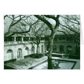 Chicago Art Institute courtyard Card