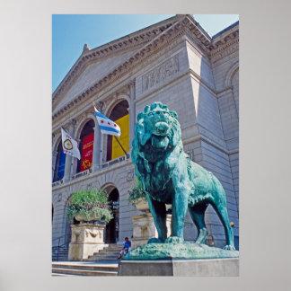 Chicago Art Institute Lion Poster