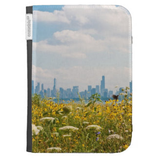 Chicago as seen from Montrose Harbor's bird Kindle 3 Case