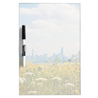 Chicago as seen from Montrose Harbor's bird Dry-Erase Board