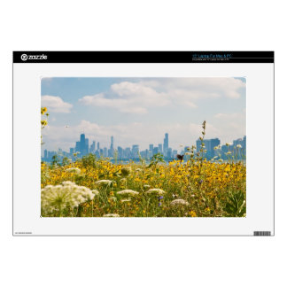 "Chicago as seen from Montrose Harbor's bird Skin For 15"" Laptop"