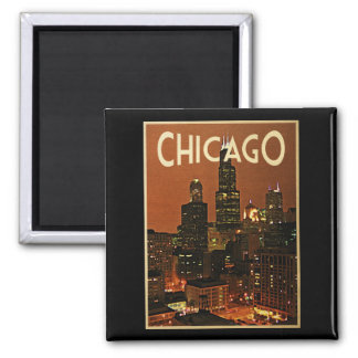 Chicago At Night Magnet
