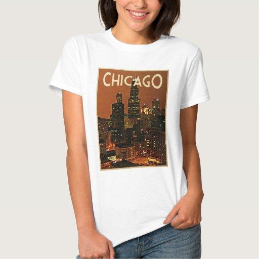 Chicago At Night Shirts